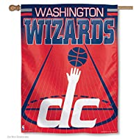 "NBA Washington Wizards 88754014 Vertical Flag, 27"" x 37"", Black"