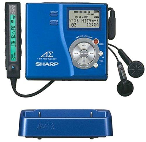 シャープ ポータブルMDレコーダー ブルー アウヴィ MD-DR77-A  アウヴィ MD-DR77-A ブルー B000295UJA