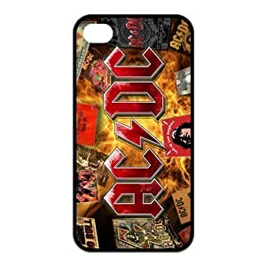 AC/DC Music Poster ACDC Band Hard Case Cover for Apple Iphone 4,4s (TPU)