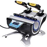 Mug Heat Press,DIY Double Station Mugs Sublimation Transfer Printing Machine(110V US Plug)
