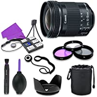 Canon EF-S 10-18mm f/4.5-5.6 IS STM Lens for Canon Digital SLR Cameras with 67mm Filter Kit (UV, CPL, FLD) + Accessory Bundle (12 Items)
