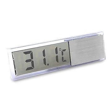 Gosear Termómetro Digital Acuario Electrónico de LCD Cristal / Medidor de Temperatura con Auto-Adhesivo y Sonda LED Temp del Tanque de Pescados: Amazon.es: ...