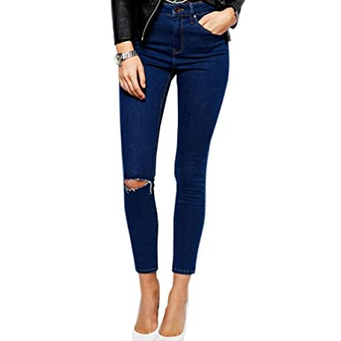 attractivedesigns los angeles purchase original LIYT-TOPSHOP Women's Fashion Slim Ripped Jeans Pencil Pants ...