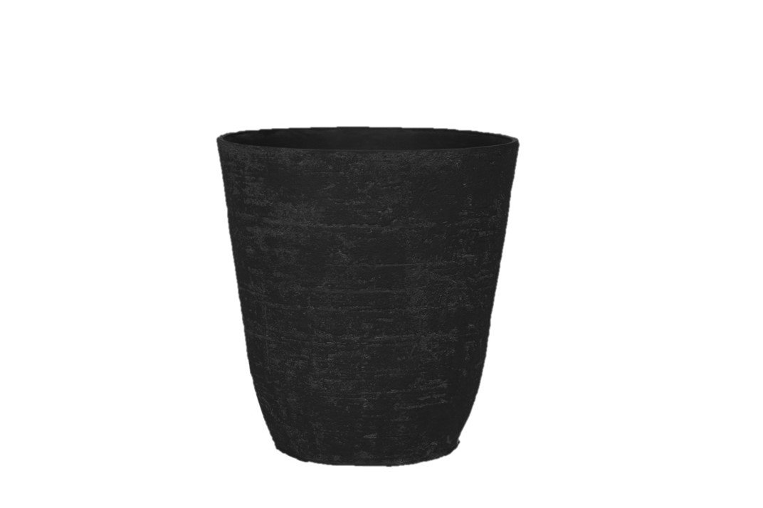 Stone Light Antique AT Series Cast Stone Planter (Pack of 2), 20 by 20.5'', Black by Stone Light