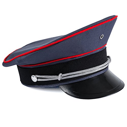 Tigerdoe Captain Hat – Officer Hat, Peaked Hat, Military Cap – Dress Up Hats