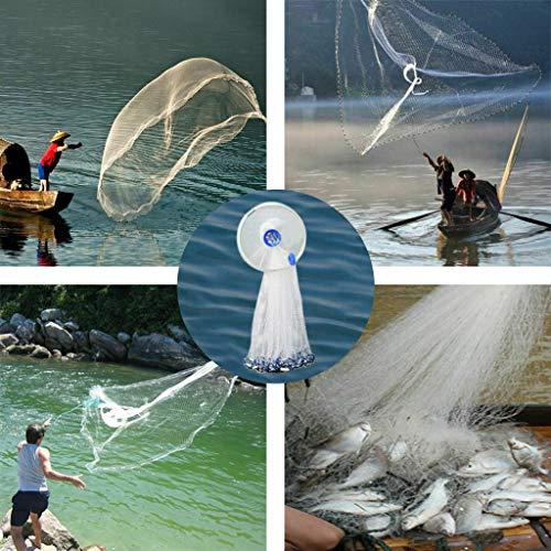 (Fine Telescopic Fishing Shrimp Trap,Hand Cast Fishing Net Trap Spin Network Easy Throw Bait Nylon Mesh 240CM (B))