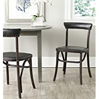 Safavieh Mercer Collection Kenny Side Chair, Antique Black, Set of 2