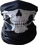 Qinlee Neck Tubular Windproof Skull Face Mask Ghost Harley Ski Seamless