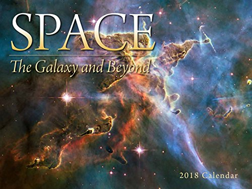 Hot 2019 Space, The Galaxy and Beyond Wall Calendar free shipping