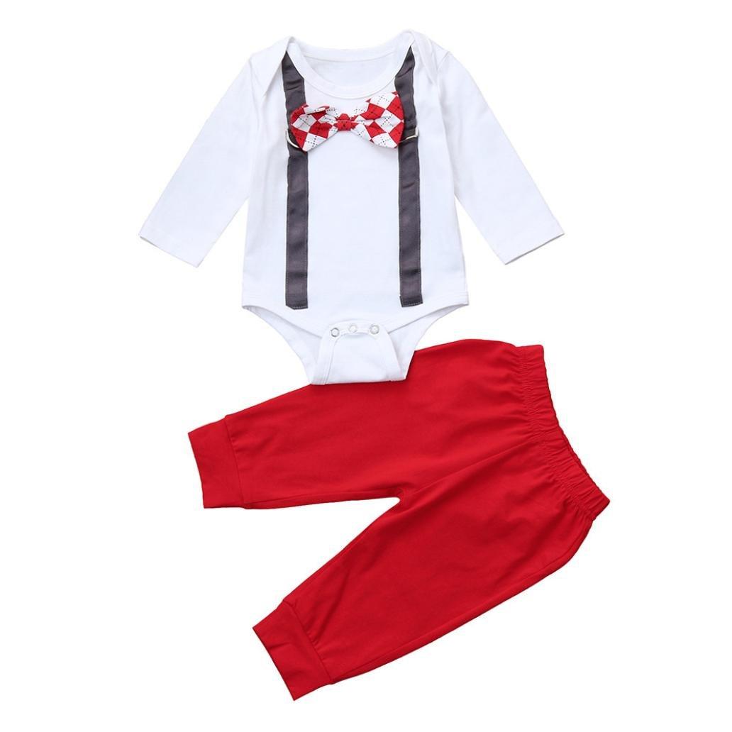 b442ce6ce3de Amazon.com  Kid Clothes Set Christmas Hot Sale 2Pcs Toddler Infant ...