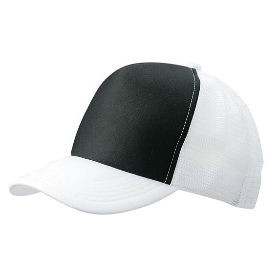 7d623287921 Myrtle Beach Trendy 5 panel mesh cap in many colour combinations (black  white)