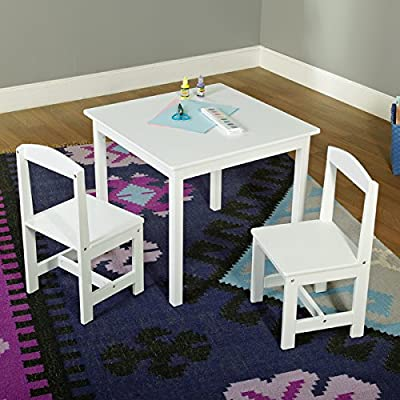 Kids Activity Table and Chairs Set 3-piece Wooden Toddler Room Kit Furniture