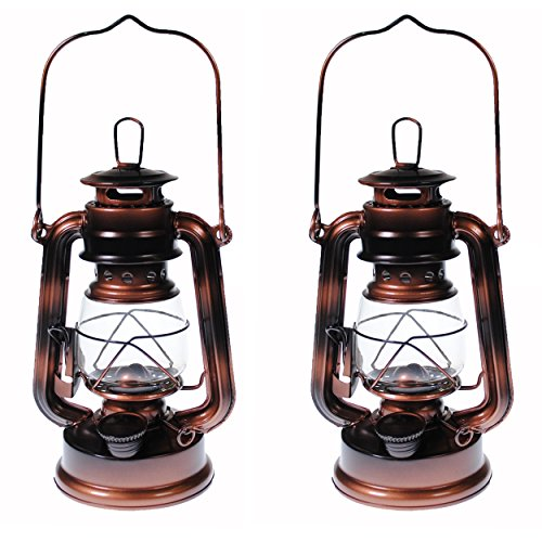 S4O Hanging Hurricane Lantern / Elegant Wedding Light / Table Centerpiece Lamp - 8 Inches - (2, Antique Brass) (Lamps For Centerpieces)