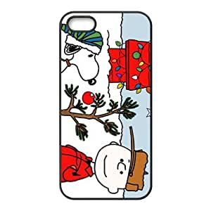 Having Christmas With Snoopy Hight Quality Plastic Case for Iphone 5s