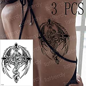 adgkitb 3 Piezas Tatuaje brújula Tatuajes mecánico gótico Tatuaje ...