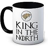 mug-tastic King in the North - Game of Thrones - Taza De Café De Cerámica De Alta Calidad