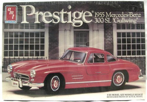 - #6871 AMT Prestige 1955 Mercedes-Benz 300 SL Gullwing 1/25 Scale Plastic Model Kit, Needs Assembly