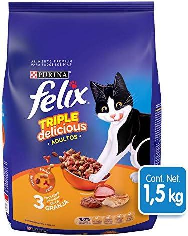 Felix Croquetas para Gato, Triple Delicious, Granja, 1.5Kg 2