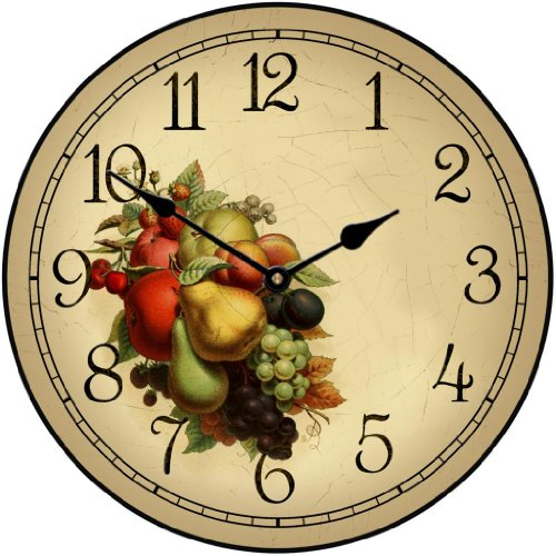 Cornicopia Wall Clock, Available in 8 Sizes, Most Sizes Ship 2-3 Days, Whisper Quiet.