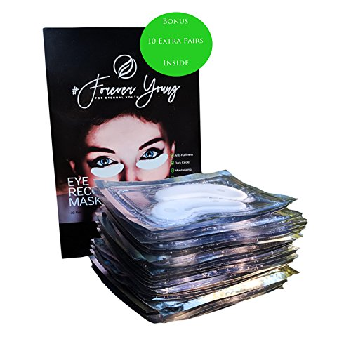 Price comparison product image New Organic Crystal Collagen Under Eye Mask Treatment Pads with Natural Ingredients for Anti-Aging, Puffiness, Dark Circles, Wrinkles and Eye Bags (20 Pairs) + Bonus 10 Extra Pairs Best Value