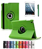 ipad 2 air case girls cool - Apple iPad Air 2 Case, CINEYO(TM) 360 Degree Rotating Stand Case Cover with Auto Sleep / Wake Feature for iPad Air 2 / iPad 6 (6th Generation) (Green)