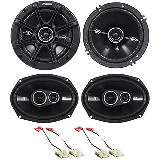 Sale Off Package: Pair of Kicker 41DSC6934 6x9' D-Series 3-Way Car Speakers Totaling 720 Watt Peak/180 Watt RMS + Pair of Kicker 41DSC654 6.5' D-Series 2-Way Car Speakers Totaling 480 Watt Peak/120 Watt RMS