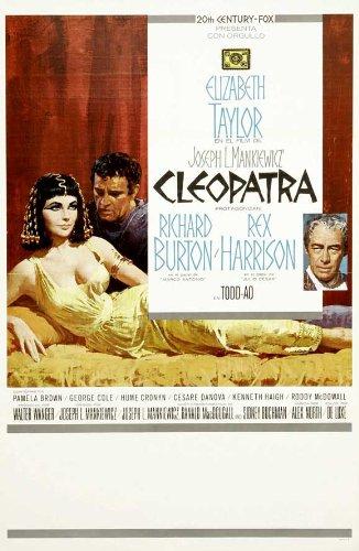 Cleopatra Elizabeth Taylor Rickard Burton Vintage Movie Poster Reproduction