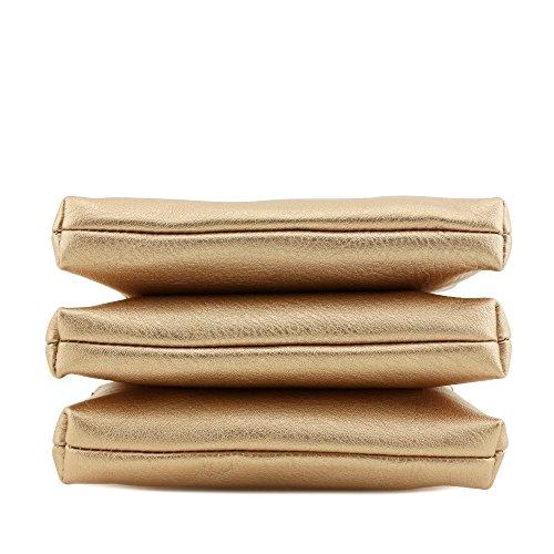 Compartment Crossbody Rose Mini Tassel Gold Bag with Triple pEdxwqp