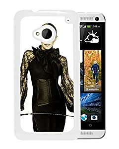 Beautiful Designed Cover Case With Madonna Girl Image Lash Look (2) For HTC ONE M7 Phone Case
