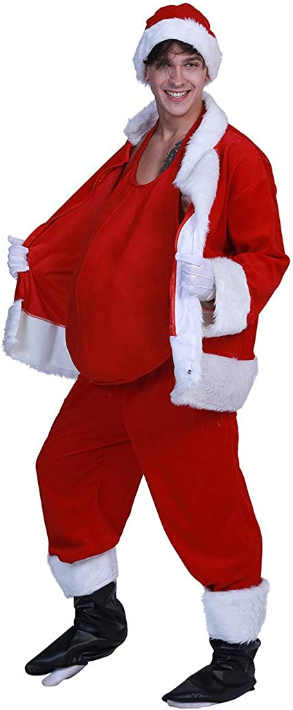 Unisex Santa Claus Props Fake Belly Christmas Tummy Pad Stage Show Accessories Belly Stuffer Dress Up