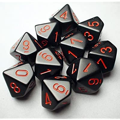 10-sided Dice: Opaque Black: Toys & Games
