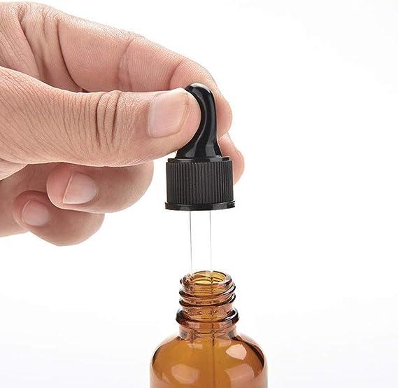 Lot de 6 marron Label de Chimie Colognes /& ✮ Parfums Produits chimiques Maso Huile Essentielle Bouteille en Verre pour Huiles Essentielles avec Compte-gouttes en Verre pour Huiles Essentielles