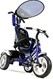 Lexx Trike 4in1 VIP Smart Kid's Tricycle 3 Wheel Bike Removable Handle & Canopy NEW BLUE