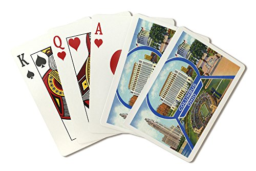 Columbus, Ohio - Ohio State University Stadium, McKinley Memorial (Playing Card Deck - 52 Card Poker Size with Jokers)
