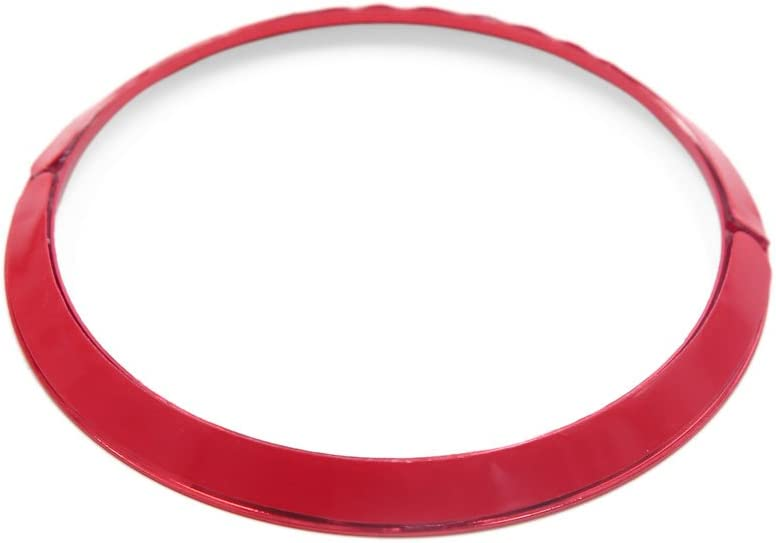 Sourcingmap Red 67mm Car Steering Wheel Center Decorative Ring