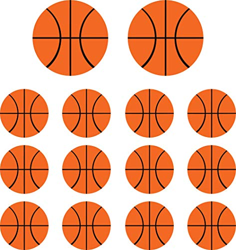 - Kinacle Basketballs, Removable Vinyl Wall and Nursery Decals, 14 Pack (14 and 9 Inches)