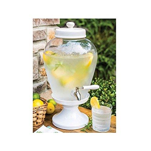 Ceramic Pedestal Beverage Dispenser (2.5 gal.) by Pedestal