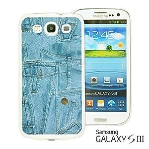 OnlineBestDigital - Fabric Pattern Hard Back Case for Samsung Galaxy S3 III I9300 - Blue Jeans Texture