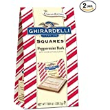 Ghirardelli Peppermint Bark Squares Bag, Milk Chocolate, 7.9 Oz (2 PACK)