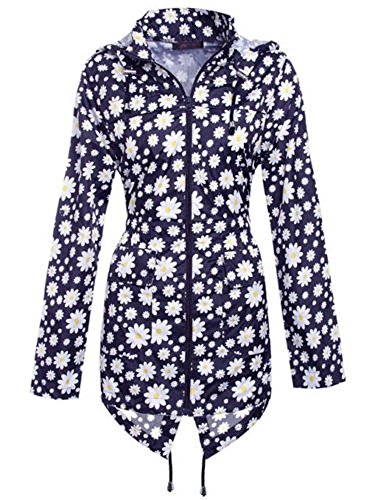Bleu Femme Manteau Marine Imperméable Shelikes w0qgnpOxq