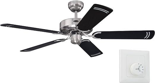 Westinghouse Cyclone - Ventilador de techo sin luz, 132 cm, para ...