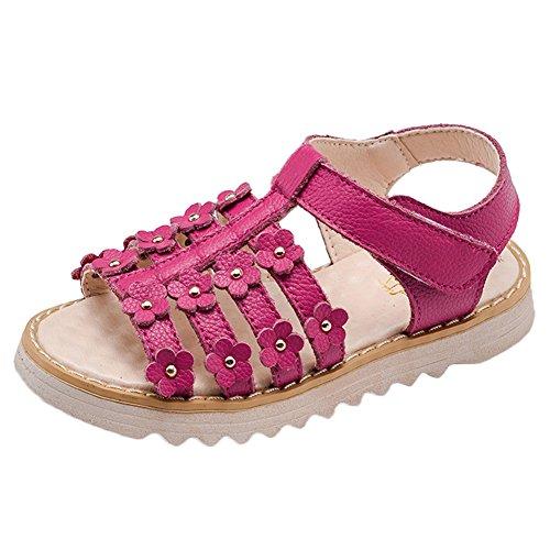 Scothen Niñas zapatos de playa sandalias de verano al aire libre romanas sandalias de los niños zapatos de la princesa del flip-flop zapatillas de deporte bailarina niñas sandalias de verano Rose Red