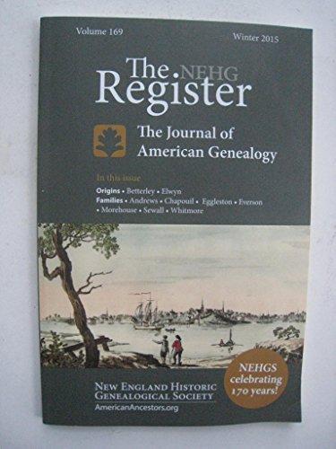 The NEHG Register Volume 169 Winter 2015