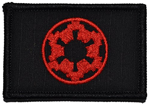 Galactic Empire Imperial Seal 2x3 Morale Patch (Black with Red)]()