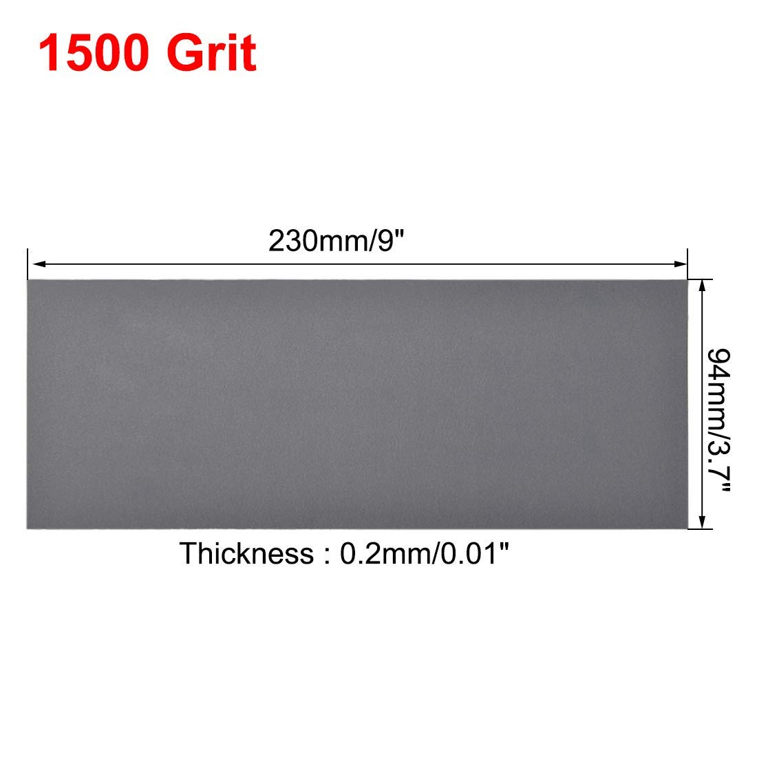 1500 grain sanding sheets 9 inches x 3.6 inches Dry and wet silicon carbide sandpaper for wood furniture Metal Automotive polishing 15 pieces