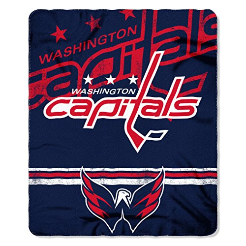 The Northwest Company NHL Washington Capitals Fade Away Printed Fleece Throw, 50-inch by (Washington Fleece Throw)
