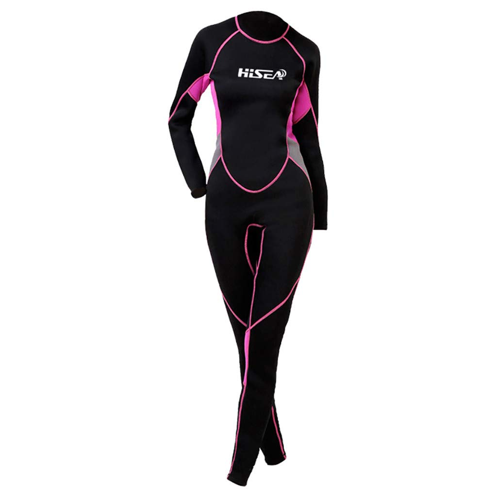 YEZIJIN Women's 2.5MM Sunblock Neoprene Wetsuit for Scuba Diving Surfing Swimming Full B Wetsuit top Long/Short Sleeve Black