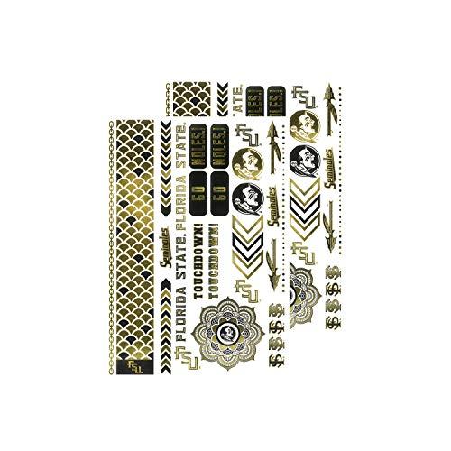 (MLB Florida State Seminoles Metallic Body Jewelry Stickers)