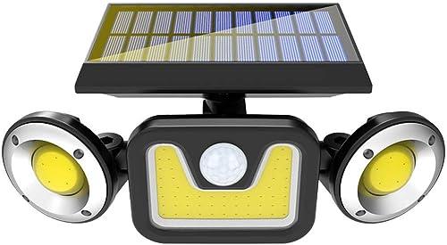 Solar Lights Outdoor with Motion Sensor, 83 LED Security Light, IP65 Waterproof 360 Adjustable Solar Powered Wall Lights 3 Head Spotlight Flood Security Light for Front Door Yard Garden Garage