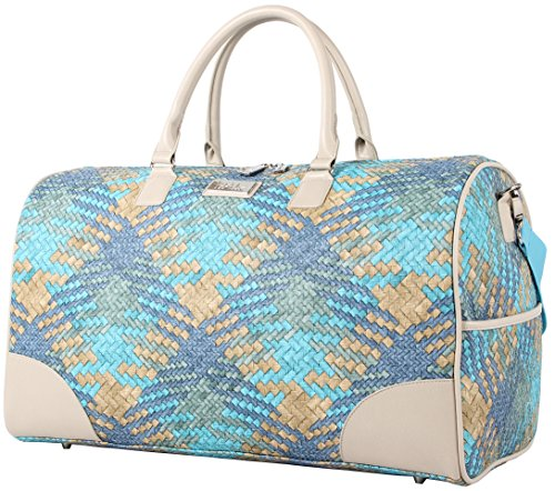 Nicole Miller Sharon City Duffel Bags (Woven Teal) from Nicole Miller